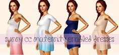 simptuous:  Sunny CC Maternity Enabled Dresses I did more…lol meshes by Sunny-CC and the first one is a maxi dress btw :D ✘Download