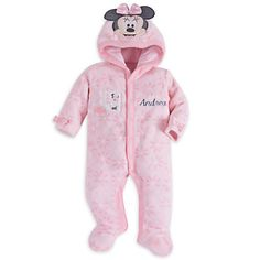 Minnie Mouse Hooded Romper for Baby - Personalizable | Disney Store