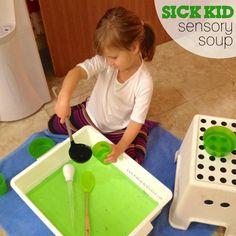 Sick Kid Sensory Soup - using Doterra Peppermint Melaluca and Rosemary
