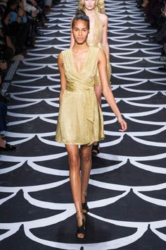 Diane von furstenberg gold dress
