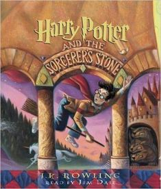Harry Potter and the Sorcerer's Stone by J. Rowling My rating: 5 of 5 stars 5 stars to J. Rowling's Harry Potter and the Sorcerer's Stone. This is such a hugely popular series… This Is A Book, Up Book, Fire Book, Book Nerd, Jim Dale, Good Books, Books To Read, Amazing Books, Big Books
