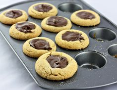 Delightful Bitefuls: Peanut Butter Nutella Cookie Cups