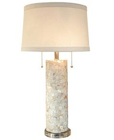Regina Andrew Table Lamp, Mother of Pearl Column - Table Lamps - for the home - Macy's