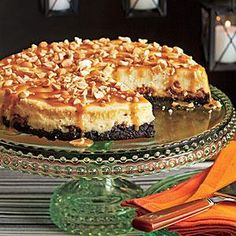 This layered dessert recipe starts with an Oreo crust, then a layer of chopped Snickers, then cheesecake batter and, finally, caramel sauce and peanuts. Creamy, sweet, and with a crunchy crust, this cheesecake is a dream dessert.