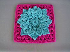 Crocodile Stitch Afghan Block - Dahlia FREE pattern by Joyce Lewis