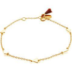 Shashi Multi Arrow Station Bracelet ($45) ❤ liked on Polyvore featuring jewelry, bracelets, gold, 18 karat gold jewelry, 18k bangle, shashi jewelry, clasp bracelet and bracelet jewelry