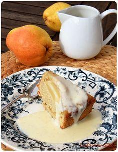 Gâteau au yaourt revisité aux poires et sarrasin