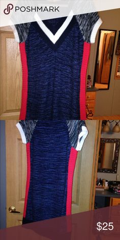 Sweater dress Soft super cute sweater dress cute with leggings . Wore once . Extra touch Skirts Midi