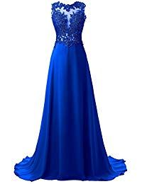 0cdddf91b673c7 Lace Appliqued Prom Dresses 2018 Long Evening Gowns for Women Formal ...