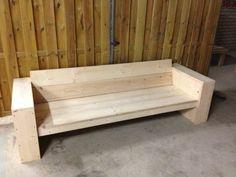 Steigerhouten bank nieuw steigerhout