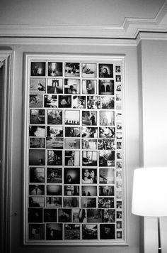 Photo wall...this is really nice!!