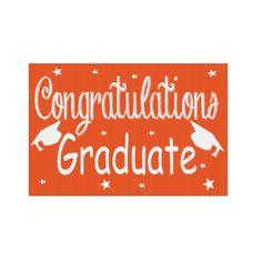 Orange Congratulations Graduate Yard Sign