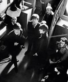 thebeatlesordie: On the set of A Hard Day's Night, 1964