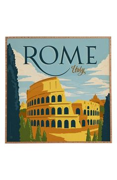 Free shipping and returns on DENY Designs 'Rome' Wall Art at Nordstrom.com. A vintage-inspired print pays homage to the history and culture of The Eternal City, while a UV-resistant finish and sustainably harvested bamboo frame make for an eco-friendly design that stands the test of time.