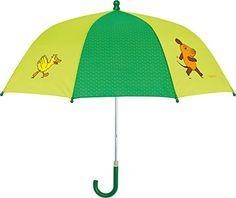 Playshoes Regenschirm Maus, Elefant & Ente - Paraguas Unisex, color verde, talla única - http://comprarparaguas.com/baratos/de-colores/verde/playshoes-regenschirm-maus-elefant-ente-paraguas-unisex-color-verde-talla-unica/