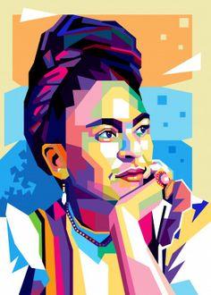 Frida Kahlo by Cholik Hamka Pop Art Portraits, Portrait Art, Pop Art Drawing, Art Drawings, Art Qoutes, Plant Painting, Encaustic Painting, Frida Art, Fabric Photography