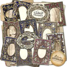 Free Printable Gilded Embellished Frames Collage Sheet