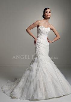 Sweetheart Mermaid Organza Dropped Floor Length Sleeveless Wedding Dresses