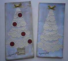 Lace Christmas Trees