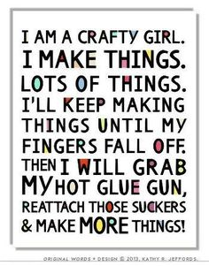 crochet quotes | January 22nd: Making Things | Craft, Run and Yumminess