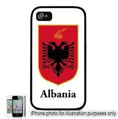 Albania Albanian Coat Of Arms Emblem Flag     iPhone 4,4S Case, Hard Back Case Customize your iPhone