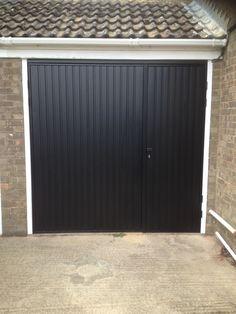 Cardale Novoferm Gemini Steel Side Hinged Garage Door One Third Two Split For Pedestrian