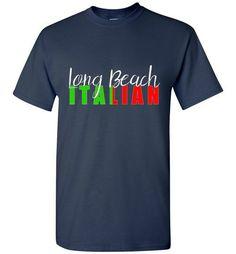 Long Beach Italian Unisex Dark Color Crew Neck T-Shirt