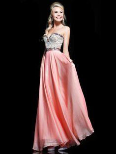 Embellished Strapless Sweetheart Floor Length Prom Dresses - LightIndreaming