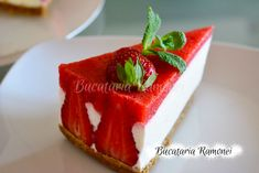 Cheesecake cu capsuni Cheesecake, Strawberry, Pudding, Fruit, Desserts, Recipes, Food, Meal, Cheesecakes