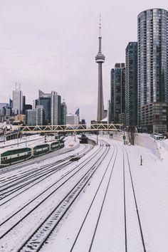 "gentscartel: ""Snow in Toronto // GC "" Toronto Snow, Toronto Winter, Toronto Ontario Canada, Downtown Toronto, Toronto Skyline, Toronto City, Torre Cn, Places Around The World, Around The Worlds"