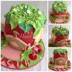 Strawberry Shortcake Cake  Cake by HeavenlyDlights