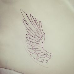 "hannahkeuls on Instagram: ""Little wing for Yvette today @goodtimestattoo #wingtattoo #tattoodesign #sketch #rkelly"""