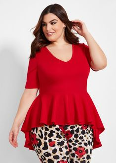 Find the best plus size peplum tops at Ashley Stewart. Shop the latest plus size peplum tops for women with curves in trendy styles and colors. Peplum Top Outfits, Peplum Shirts, Men's Shirts, Cute Outfits, Plus Size Party Dresses, Plus Size Outfits, Plus Size Peplum, African Dresses For Kids, Plus Size Clothing Stores