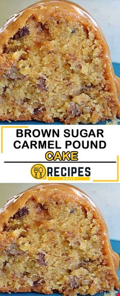 My Granddaddy's Favorite Brown Sugar Carmel Pound Cake For Those Who Enjoy Flavor - Daily Recipes Just Desserts, Delicious Desserts, Dessert Recipes, Christmas Pound Cake Recipe, Pound Cake Recipes, Pound Cakes, Salty Cake, Eat Dessert First, Savoury Cake