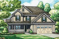 Home Plan With L-Shaped Front Porch - 42287DB | 2nd Floor Master Suite, Bonus Room, Butler Walk-in Pantry, CAD Available, Country, Den-Office-Library-Study, PDF, Traditional | Architectural Designs