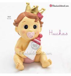 Hucha bebe niña corona rosa Christmas Ornaments, Holiday Decor, Pink, Kids Birth, Piggy Bank, Crowns, Hilarious, Bebe, Christmas Jewelry