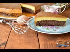 Tort cu crema de zahar ars si blat de pandispan - YouTube