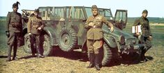 Magyar parancsnoki jármű Krupp gyártmány.