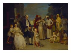 A Group Portrait of Sir Elijah and Lady Impey with their Three Children    by Johann Zoffany