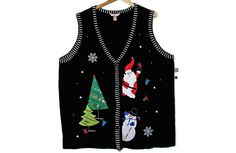 Santa & Snowman Tacky Ugly Christmas Sweater Vest Women's Plus Size 4X – Brand New! $25