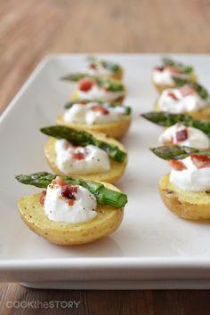 Cute little Baked Potato Bites | Potato Appetizer Recipe | Potato Goodness