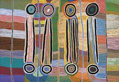 MAGGIE NAPANGARDI WATSON (1921 - 2004) MUSHROOM DREAMING, 1996 synthetic polymer paint on linen 140.0 x 200.5 cm