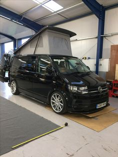Black big wheel vw t5