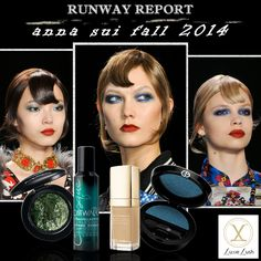 Anna Sui Fall 2014: Multi-Toned Eyes (Green and Blue Lids) #luxielush #beautyblog #bbloggers #beautyarticle #fall2014 #fallbeautytrends #beautytrends