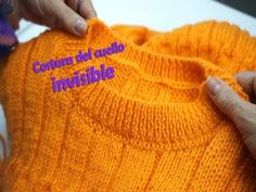 Como coser un cuello sin que se note la costura - YouTube Hand Crochet, Knit Crochet, Super Chunky Wool, Knitting Videos, Baby Sewing, Baby Knitting, Baby Dress, Knitted Hats, Knitwear