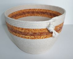 Coil Wrapped Fabric Bowl by Coilology on Etsy, $35.00