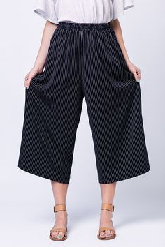 Ninni Elastic Waist Culottes - Named