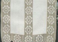Risultati immagini per tende lino e uncinetto per cucina