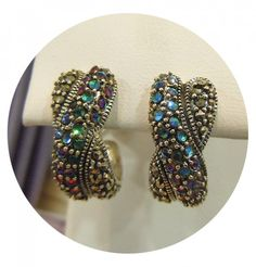 Sterling Silver & Marcasite Earrings  #Vintage #Style #Fashion