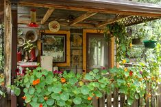 The Cowboy's Sweetheart studio porch in mid-summer. Cowboys, Porch, Jewelry Design, Outdoor Structures, Studio, Summer, House Porch, Patio, Summer Recipes